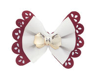 Red and white bow tie Stock Photos