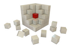 Red and white boxes Stock Photo