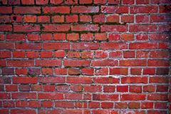 A red-white brick wall. A shot of an old brick wall Royalty Free Stock Image