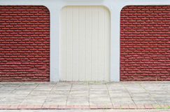 Red and white brick wall Royalty Free Stock Images