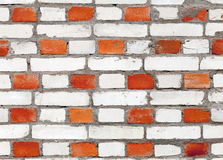 Red and white brick wall pattern texture. Background texture of red and white brick wall pattern Stock Image