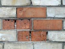 Red and white bricks Stock Photos