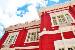 Red and white building Stock Photography