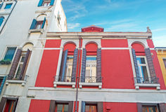 Red and white buildings Royalty Free Stock Photography