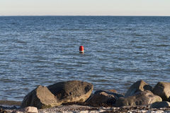 Red and White Buoy Royalty Free Stock Image