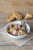 Red and white cabbage salad Royalty Free Stock Images