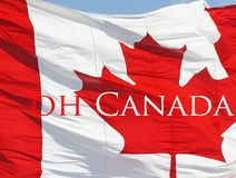 Red and White Canada Flag with the symbolic Maple Leaf Royalty Free Stock Photography