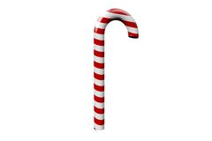 Red and white candy cane Stock Photo