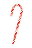 Red and white candy cane isolated on white Stock Photos