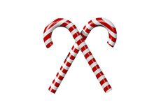 Red and white candy canes Stock Photography