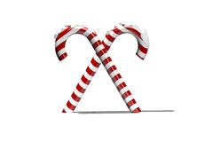 Red and white candy canes Royalty Free Stock Photography