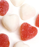 Red and White Candy Hearts Stock Image