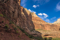 Red White Canyon Walls Zion National Park Utah Royalty Free Stock Photography