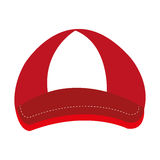 Red and white cap, graphic Stock Photos