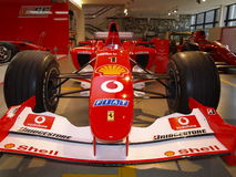 Red and white car - Formula 1 Stock Images