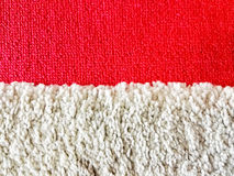 Red and white carpet Stock Photos