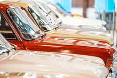 Red and white cars Royalty Free Stock Photo