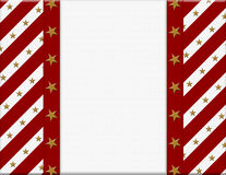 Red and White celebration frame with stars Royalty Free Stock Images