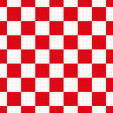 Red and white check pattern with houndstooth design. Stock Photography