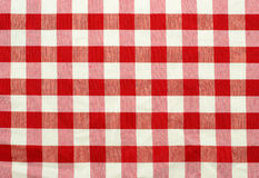 Red and white checked fabric. Pattern Royalty Free Stock Photos