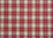 Red and white checked pattern Stock Photo