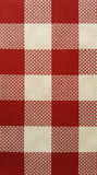 Red and white checker board fabric. Texture and pattern stock image
