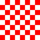 Red and white checker texture pattern Stock Photo