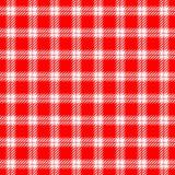 Red white checkered background Stock Photo