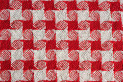 Red-white checkered background Royalty Free Stock Images