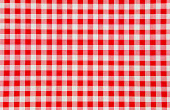 Red and white checkered background Royalty Free Stock Photo