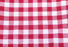 Red and white checkered fabric background. Background Royalty Free Stock Photography