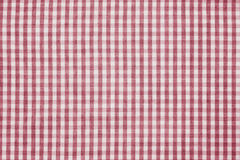 Red and white checkered fabric background texture Royalty Free Stock Photos