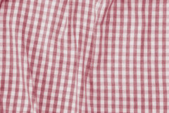 Red and white checkered fabric background texture Royalty Free Stock Images