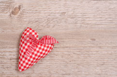 Red and white checkered heart Stock Image