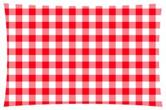 Red & white checkered kitchen table cloth royalty free illustration