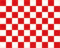 Red and white checkered pattern to use for the traditional design of Japan Stock Photo