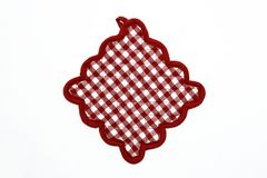 Red and White Checkered Potholder Stock Image
