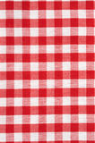 Red and White Checkered Tablecloth Background royalty free stock image