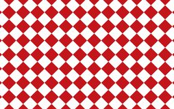 Red and white checkered tablecloth background.Texture from rhombus for - plaid, tablecloths, clothes, shirts, dresses, paper, bed. Ding, blankets, quilts and stock illustration