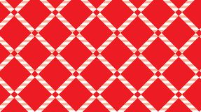 Red and white checkered tablecloth background.Texture from rhombus for - plaid, tablecloths, clothes, shirts, dresses, paper. Bedding, blankets, quilts and vector illustration