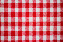 Red and white checkered tablecloth Royalty Free Stock Image