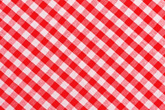 Red and white checkered tablecloth Royalty Free Stock Photography