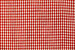 Red and white checkered tablecloth Royalty Free Stock Images