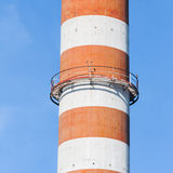 Red and white chimney Royalty Free Stock Image