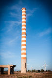 Red and white chimney Stock Image