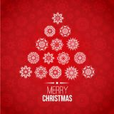 Red and white Christmas background Stock Photo