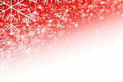 Red white christmas background. Red christmas background with ice crystals and snow flakes vector illustration