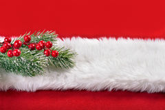 Red and white christmas background Stock Images