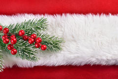Red and white christmas background Royalty Free Stock Photos