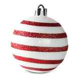 Red And White Christmas Ball Stock Image